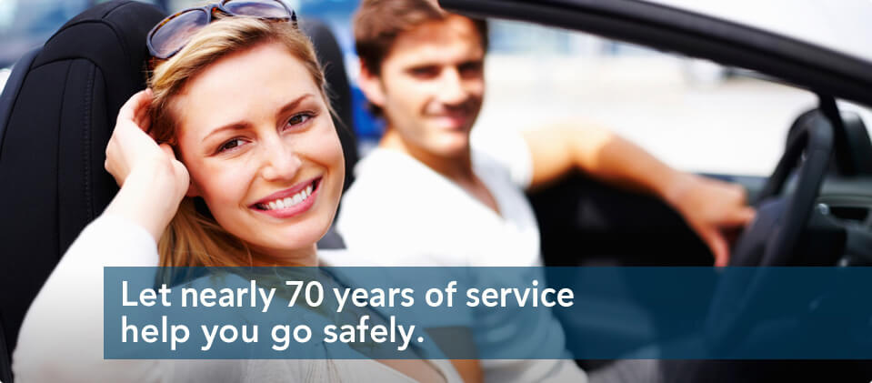 Let over 60 years of service help you go safely