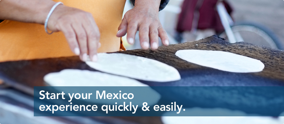 Start your Mexicon experience quickly and easily